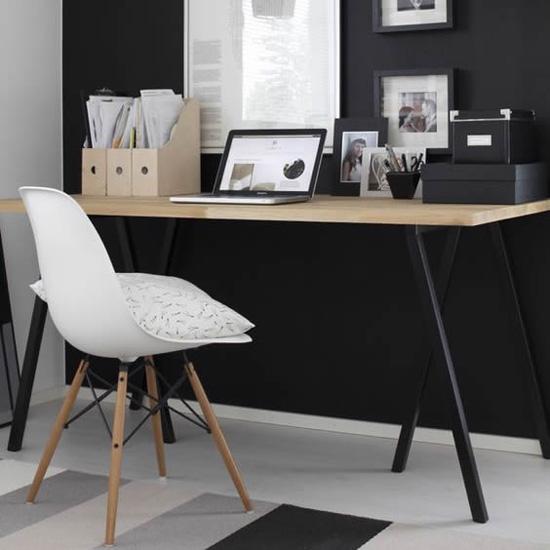 10000-Silla Réplica Eames Wood Blanca