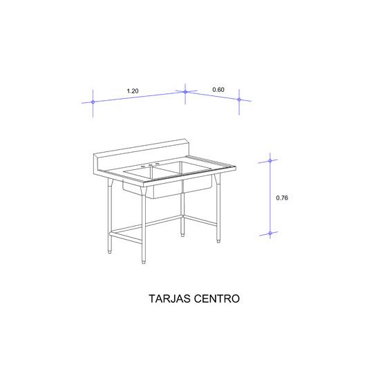 5554_Fregadero con Doble Tarja para Cristalería Mod