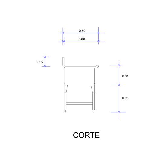 5564_Fregadero con Una Tarja para Ollas Mod. FOSC-120-corte
