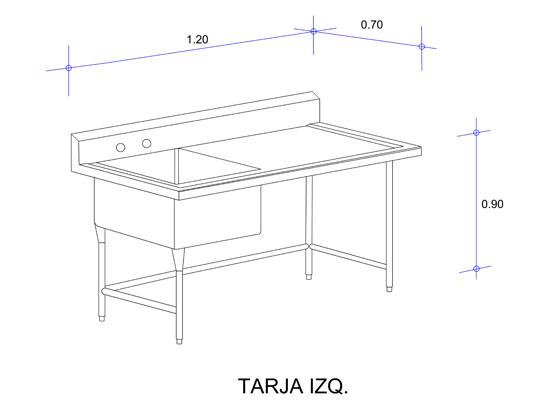 5564_Fregadero con Una Tarja para Ollas Mod. FOSC-120-tarja izq