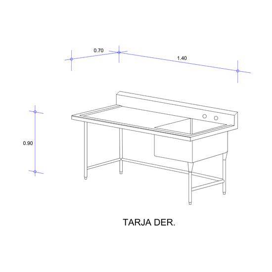 5565_Fregadero con Una Tarja para Ollas Mod