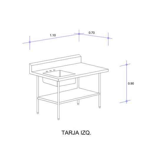 5619_Mesa con Tarja Auxiliar Mod