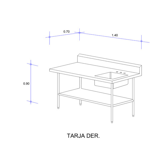 5621_Mesa con Tarja Auxiliar Mod