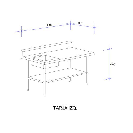 5623_Mesa con Tarja Auxiliar Mod